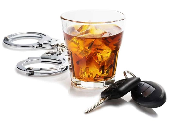 Car keys, alcohol and handcuffs